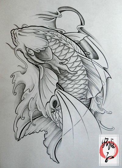 Carpe portes and dragon on pinterest for Carpe koi a acheter