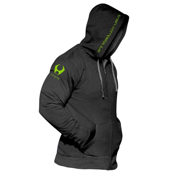 compete performance 1.0 hoodie (Black/Neon Green)