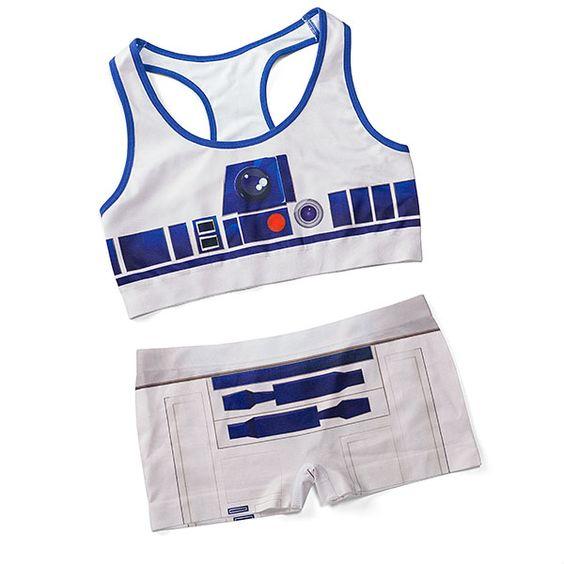 Star Wars R2-D2 Seamless Sports Bra & Seamless Boyshorts