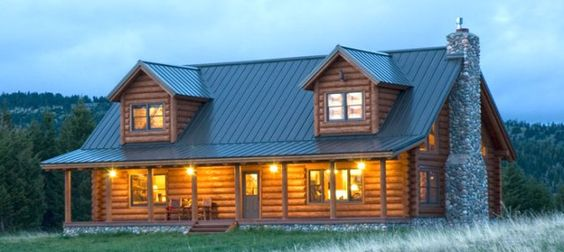 Steel Roof & Other Options https://reallogstyle.com/2013/04/11/roofing-options-for-your-log-home/