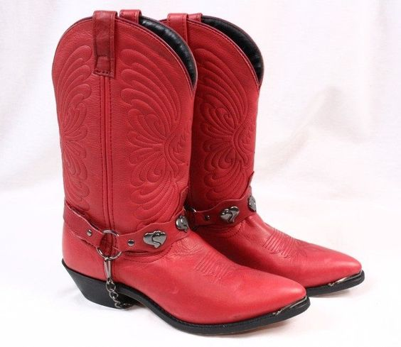 Details about MASTERSON Red Leather Cowgirl Cowboy Western Heart ...