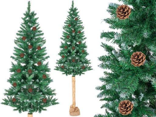 Choinka Sztuczna Na Pniu Sosna Diamentowa 215 Cm 7461191518 Oficjalne Archiwum Allegro Christmas Tree Holiday Decor Christmas Tree Skirt