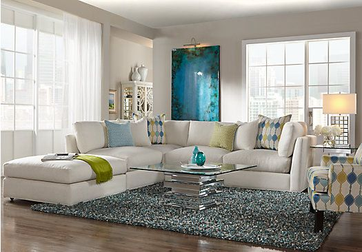 Picture of cindy crawford home crosby street right 6 pc for 6 pc sectional living room