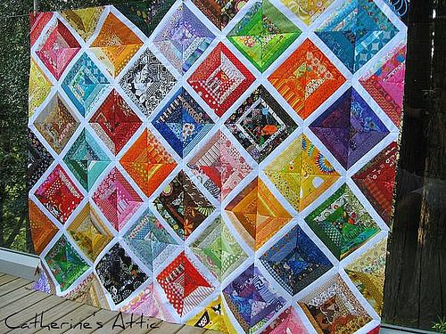 string quilt: stunning quilt: Scrap Quilts, Quilts Memories, Buster Quilt, Color Blocks, String Quilts, Block Quilt, Quilt Idea, Color Opposite, Quilts Blankets