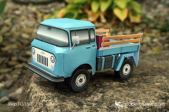 Jeep FC-150 paper model | papercruiser.com