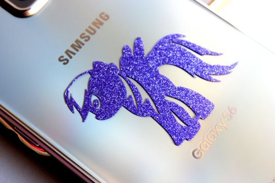 Glitter stickers for Phones  Vinyl Decal for by VivaVinylStickers