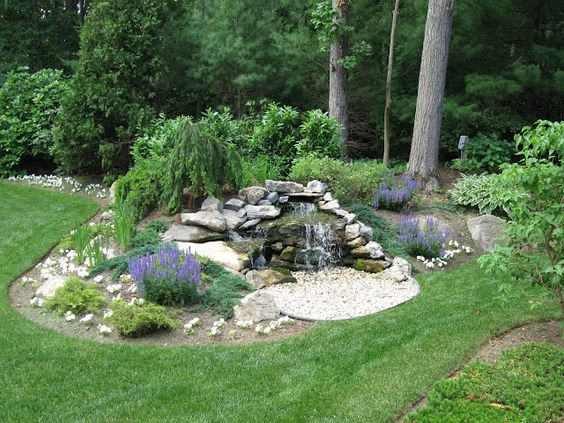 Small garden pond design waterfall design ponds and for Garden waterfall design