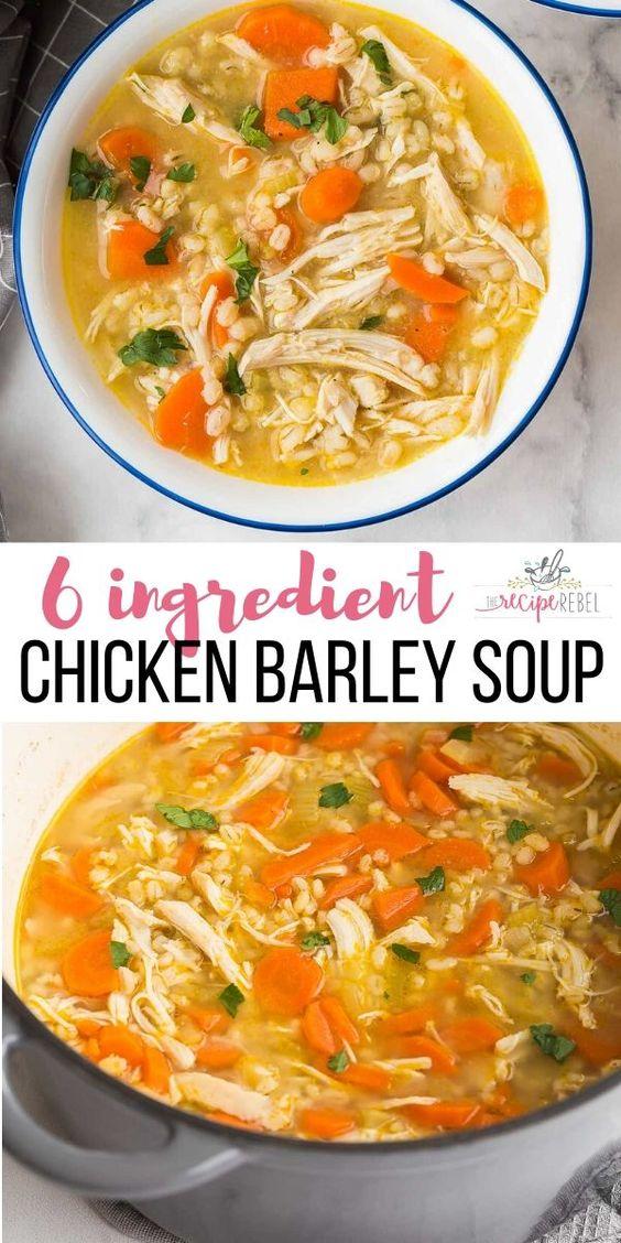 6 ING Chicken Barley Soup