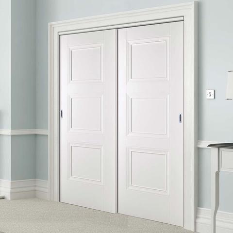 pintu minimalis putih dua pintu