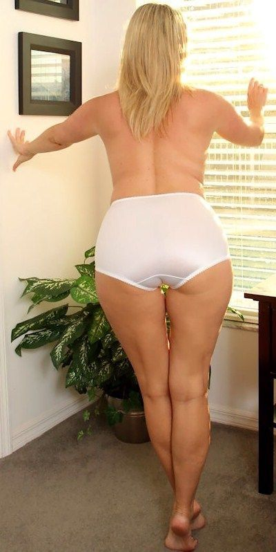 white full cut silky panties on a big curvy ass | Panties and Such ...