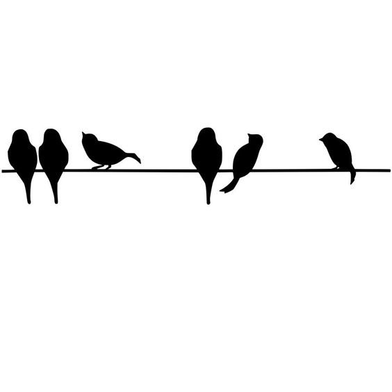 Fil oiseaux and pochoir silhouette on pinterest for Pochoir oiseau