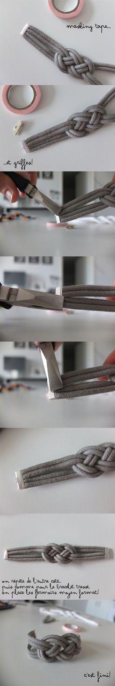 Bracelet Noeud  Retrouvez tout le matériel pour le DO IT YOURSELF sur www.la-petite-epicerie.fr