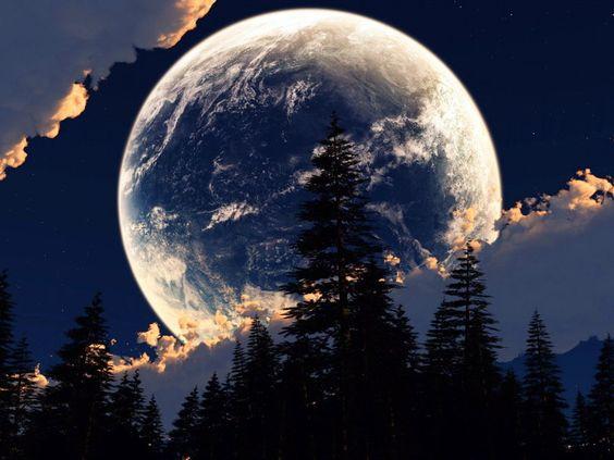 lune de désert Wallpaper: