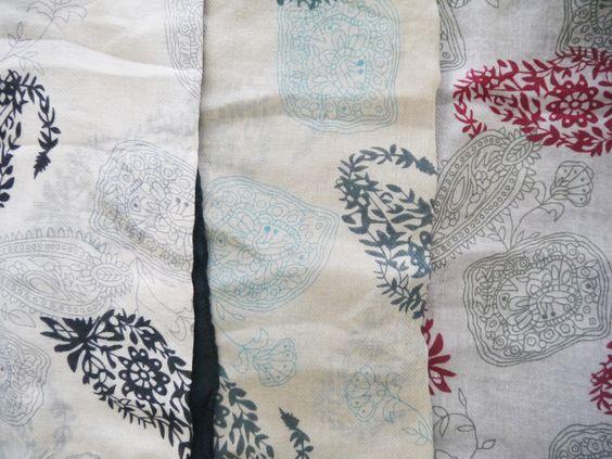 Light scarves - Boteh.