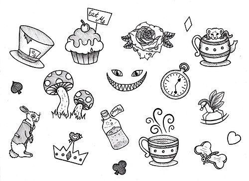 Alice In Wonderland Wonderland Tattoo Alice And Wonderland Tattoos Alice In Wonderland Drawings