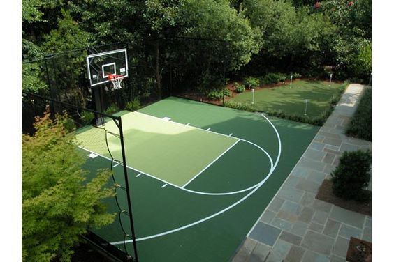 Backyard basketball court dallas basketball courts photo Backyard sport court