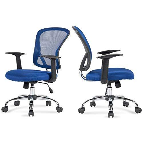 Modern Design Mid Back Computer Desk Task Dining Room Chair Height