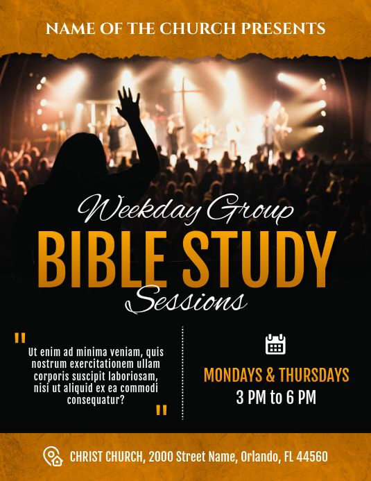 Bible Study Weekly Sessions Church Flyer Church Poster Church Poster Design Bible Study