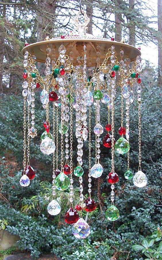 .beautiful bead wind chime:
