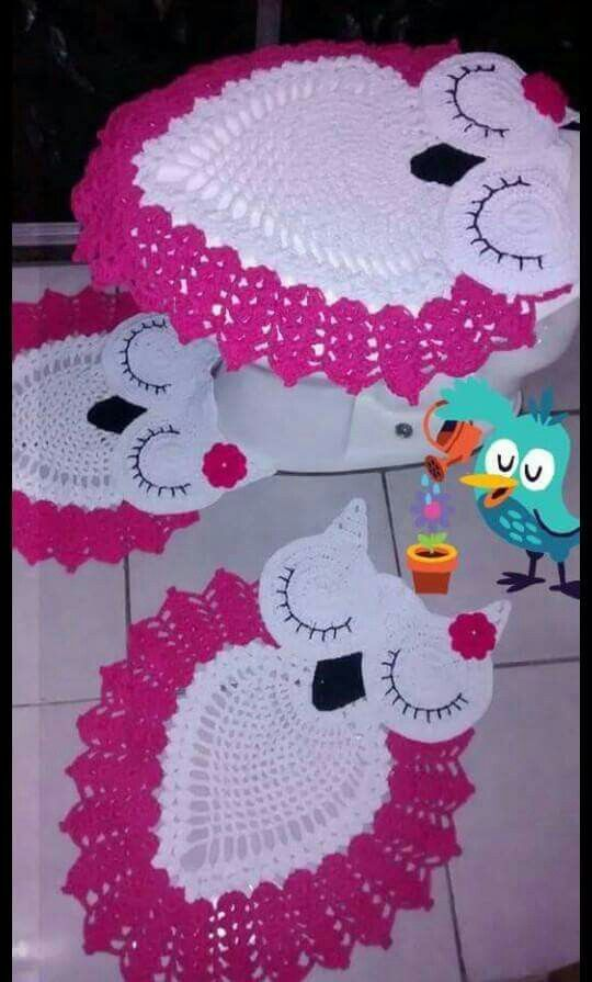 crocheted owl bathroom sets yahoo image search results  patterns and owl on  pinterest. owl bathroom set crochet pattern    37 images   1000 images about