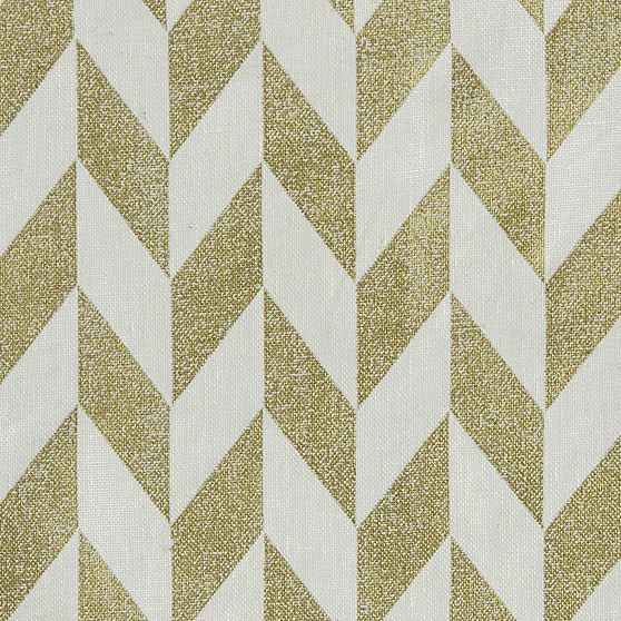 Herringbone Gold Sheer Curtain Panels in Curtains | Crate and ...