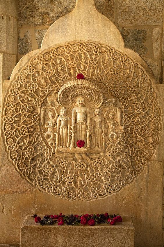 .15th Century carving detail, Jain Temple. Ranakpur, India