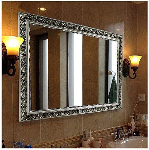 Beautiful Rectangular Wall Mounted Mirror 38 X26 Silver Home Decor 79 99 Topbuytopoff In 2020 Wall Mounted Mirror Rectangular Bathroom Mirror Large Wall Mirror