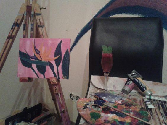 Kreativität ausleben an der Leinwand mit Rotkäppchen Rosé, verfeinert mit frischen Himbeeren & Minze ...