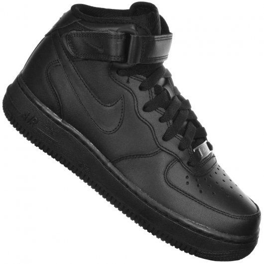 Tenis Nike Air Force 1 07 Mid Feminino Preto - 366731-001 ...