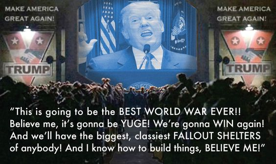 We will be at war soon after if Trump gets elected. It's a money-making endeavor for himself. Just like for Bush & Cheney.