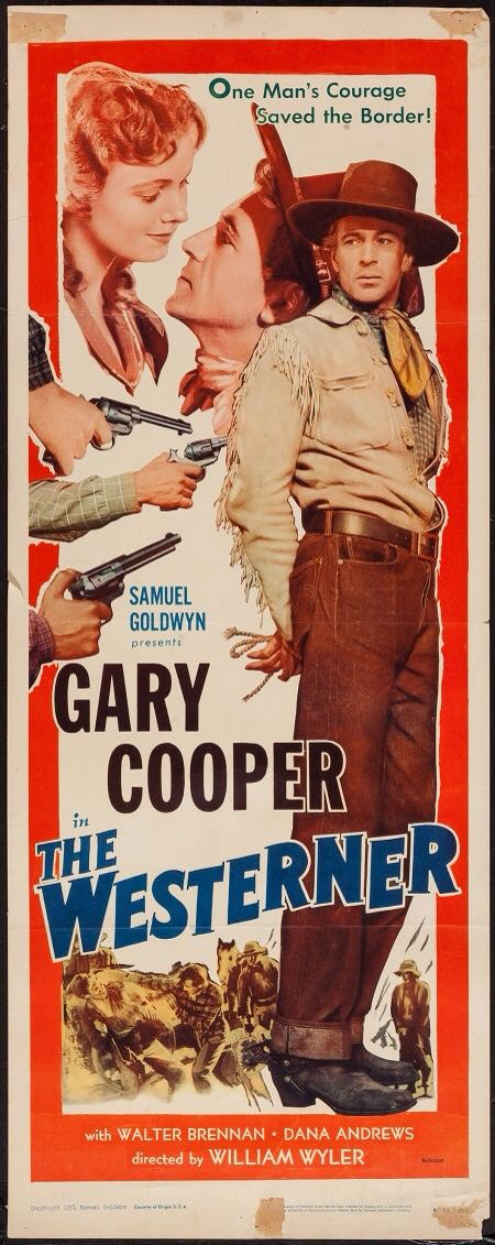 Poster from the film The Westerner