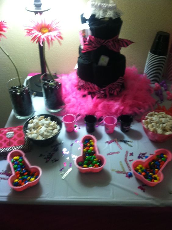 Bachelorette decorations decoration and candy dishes on for Bachelorette decoration