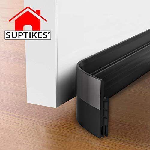 Suptikes 2 Pack Door Draft Stopper Door Sweep For Exterior Interior Doors Door Bottom Seal Dust And Noise Insulation Weather Stripping Draft Guard Insulator In 2020 Door Draught Stopper Noise Insulation