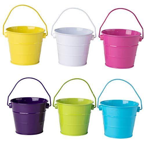 Colored Mini Metal Buckets 6 Pack Colorful Tin Pails Wi Https Www Amazon Com Dp B07dqgd24c Ref Cm Sw R Pi Dp U X Xwxwcb1yv Metal Bucket Tin Pails Bucket