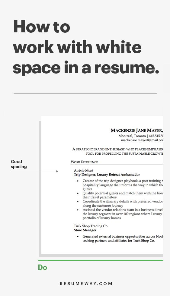 Why White Space Is So Important In Resume Resumeway In 2020 Resume Writing Tips Resume Advice Resume Tips