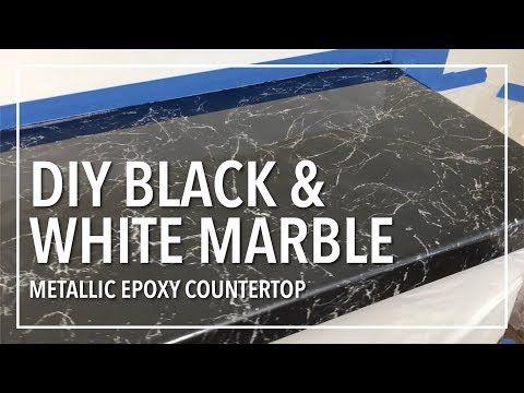 Diy Black White Marble Countertop Resurfacing With Epoxy Resin