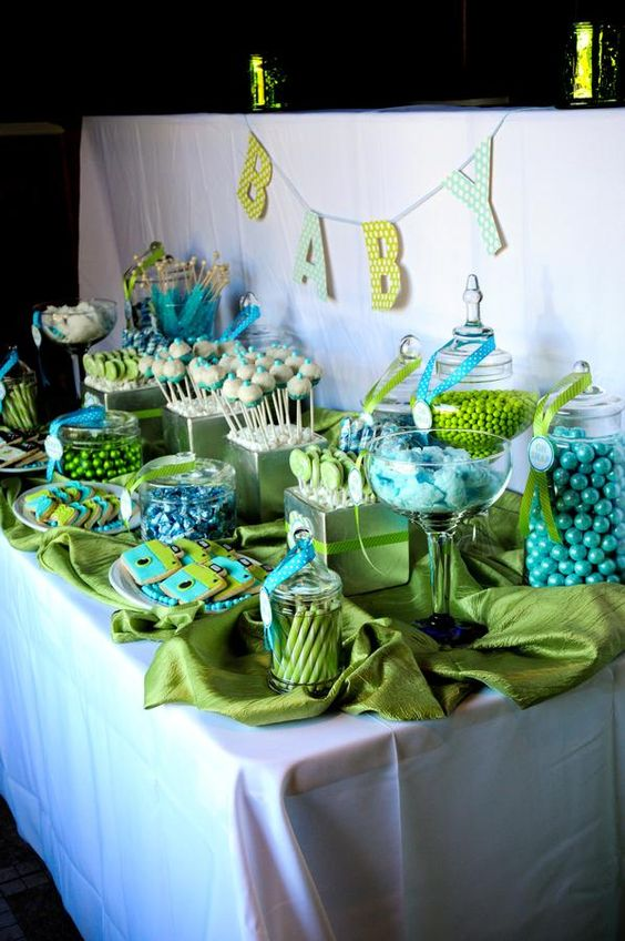 Lime green and turquoise shower baby showers pinterest - Turquoise and lime green decor ...