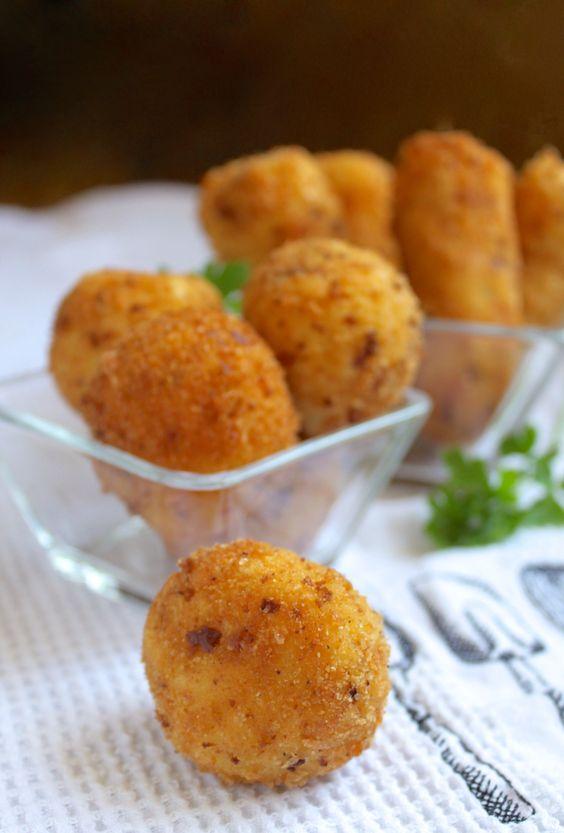 Potato croquettes, Potatoes and Mashed potatoes on Pinterest