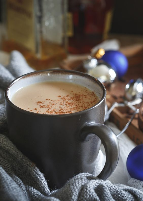 This coconut chai hot toddy is made with a generous splash of dark rum, spices and creamy coconut milk for the perfect cozy holiday drink.
