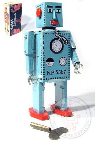 Buy Lilliput Robot Junior Blue Wind Up at TinToyArcade.com