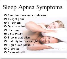 Is the stress of managing your diabetes triggering sleep apnea?  Check out these symptoms in the picture, then click on the link to read an article about sleep apnea in diabetics causing carbohydrate cravings.  There are so many psychological and social stressors that can cause sleep apnea, which now has been shown to lead to even more issues for diabetics.