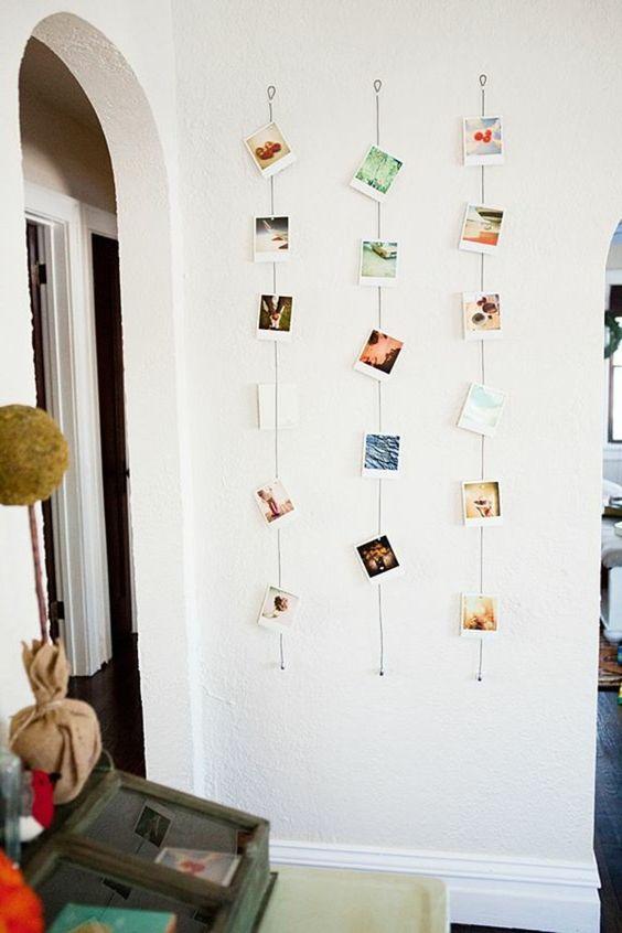 idées pour la chambre d'ado fille, idees deco pas cher chambre adulte, deco avec photos
