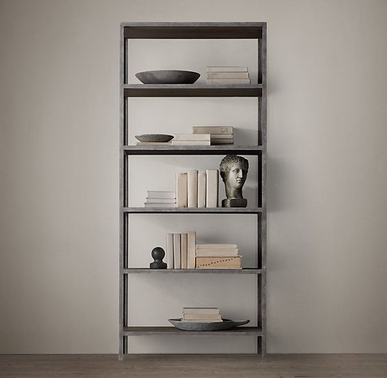Vintage Industrial Bookcase by Restoration Hardware.: Restoration Hardware, Industrial Shelve, Hardware Vintage, 875 Restoration, Vintage Industrial, Industrial Shelving, Bookcase Restoration