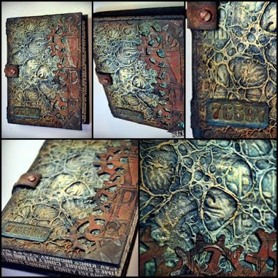 Idea: create relief covers for books from paper mâché/ card board/ mod rock that reflect the story in the book.