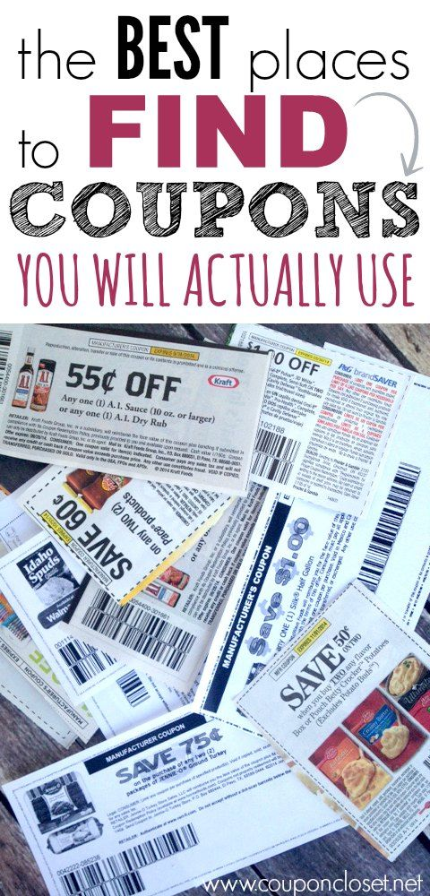 Top 6 Best Places to Find Coupons that you will actually use.