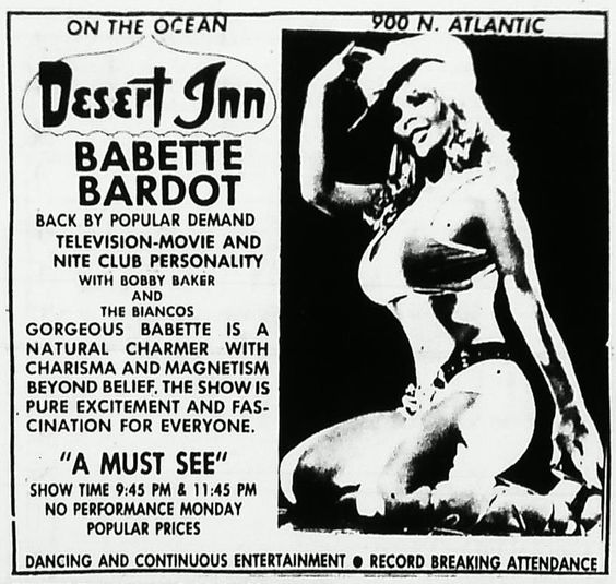 Babette Bardot, Russ Meyer Alumni and Daytona Beach haunter.: