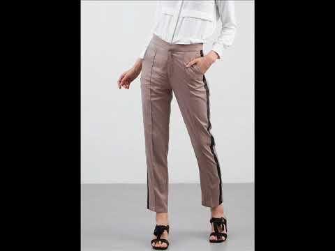 موضة بنطلون قماش واسع موديلات بناطيل واسعة Pants Khaki Pants Pantsuit