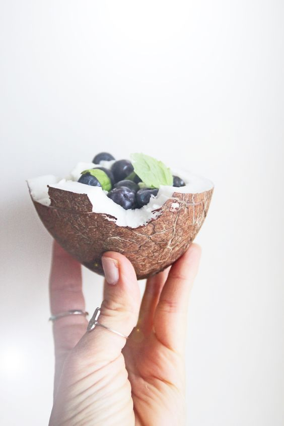 banana blueberry freeze coconut cup