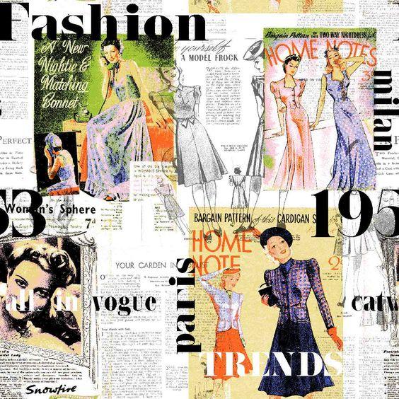 Tela juvenil para chica de la colección Fashion de Scenes by Vanico   #Scenesdecoración #Habitaciónjuvenil #Cortinas