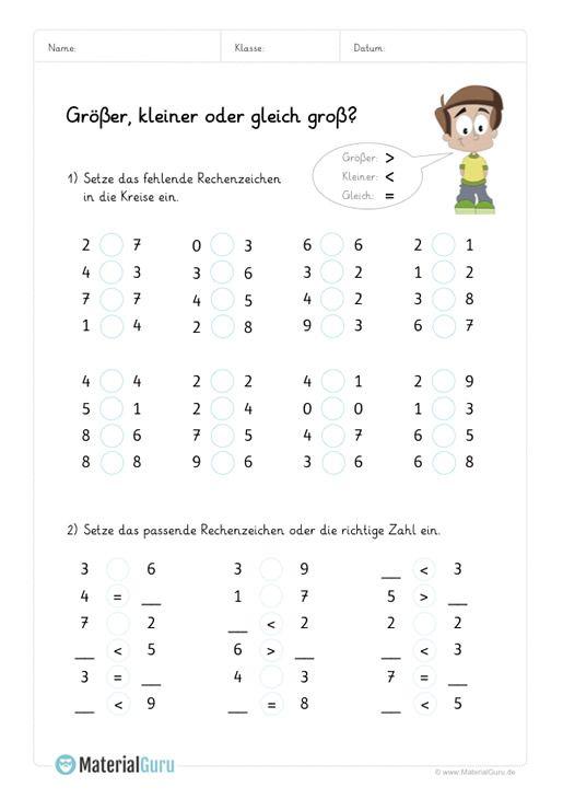 Neu Mathe Arbeitsblatt Zum Thema Größer Kleiner Für Die Grundschule Mathe Mathe Für Vorschulkinder Arbeitsblätter Mathe